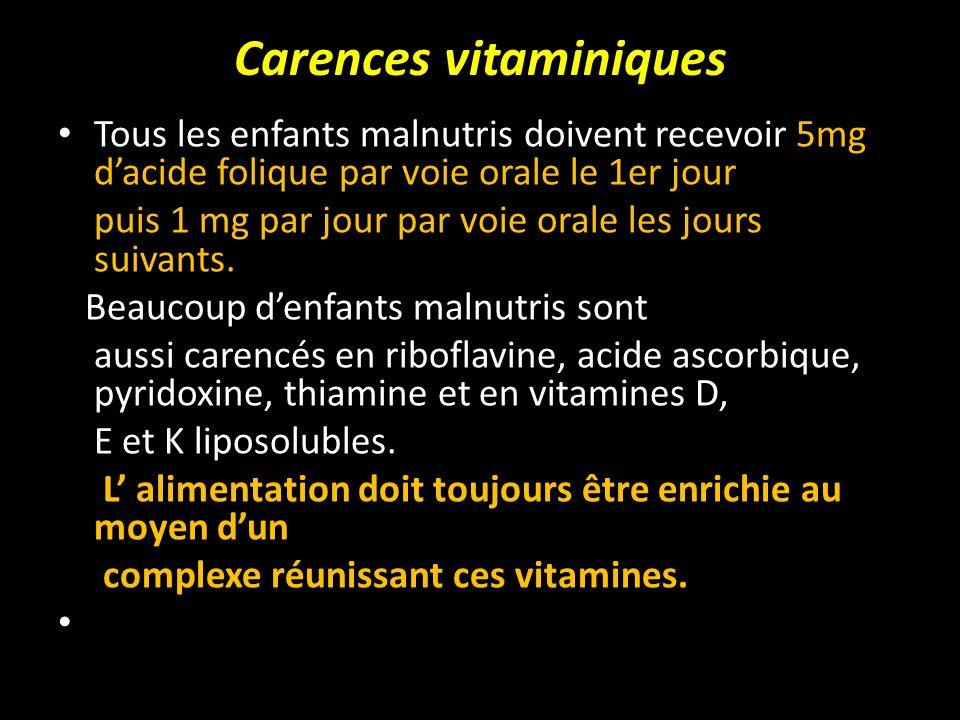 Carences vitaminiques