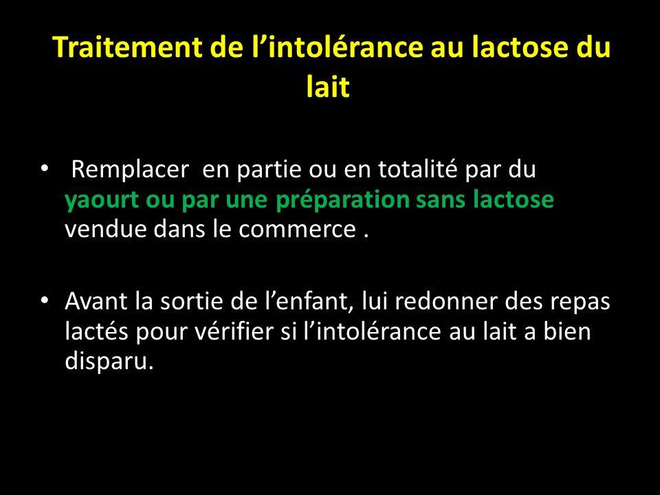 Traitement de l'intolérance au lactose du lait
