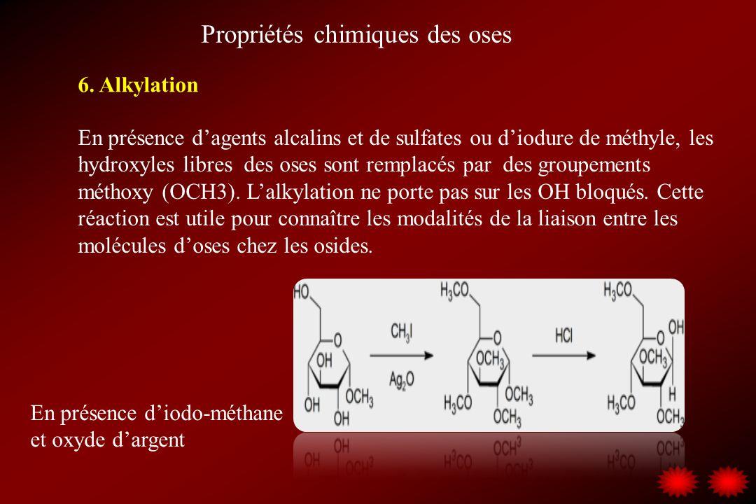 Propriétés chimiques des oses