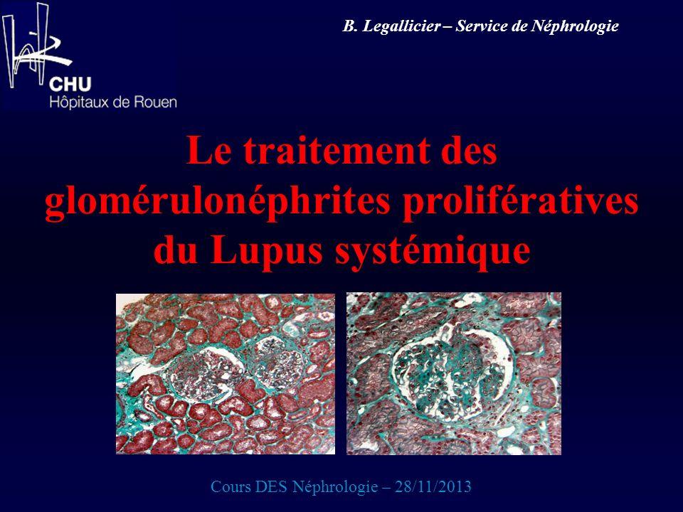 Le traitement des glomérulonéphrites prolifératives