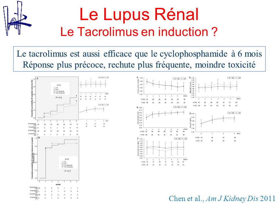 Le Lupus Rénal Le Tacrolimus en induction