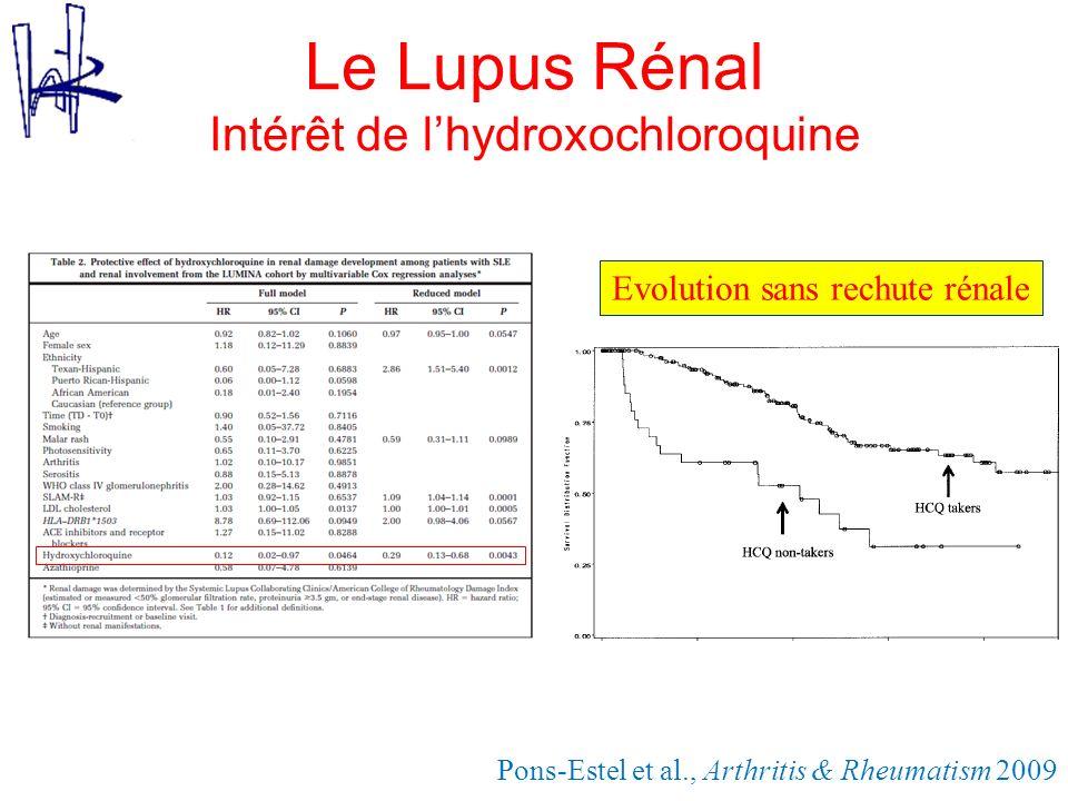 Le Lupus Rénal Intérêt de l'hydroxochloroquine