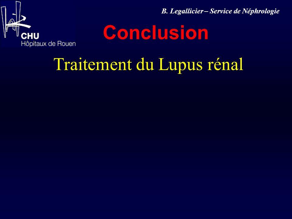 Traitement du Lupus rénal