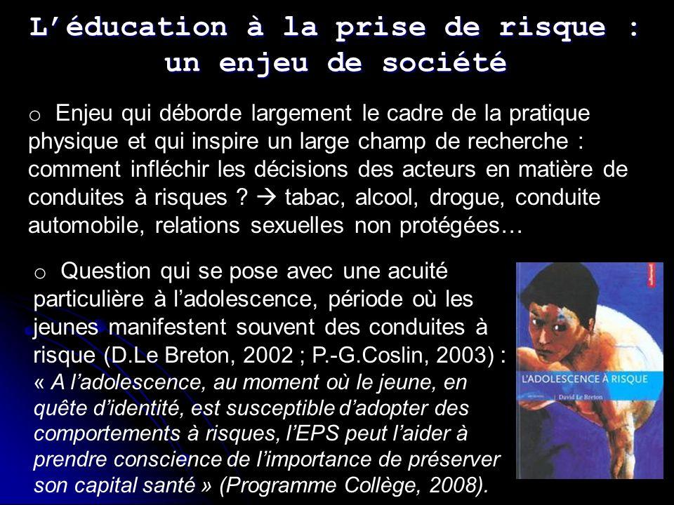L'éducation à la prise de risque : un enjeu de société