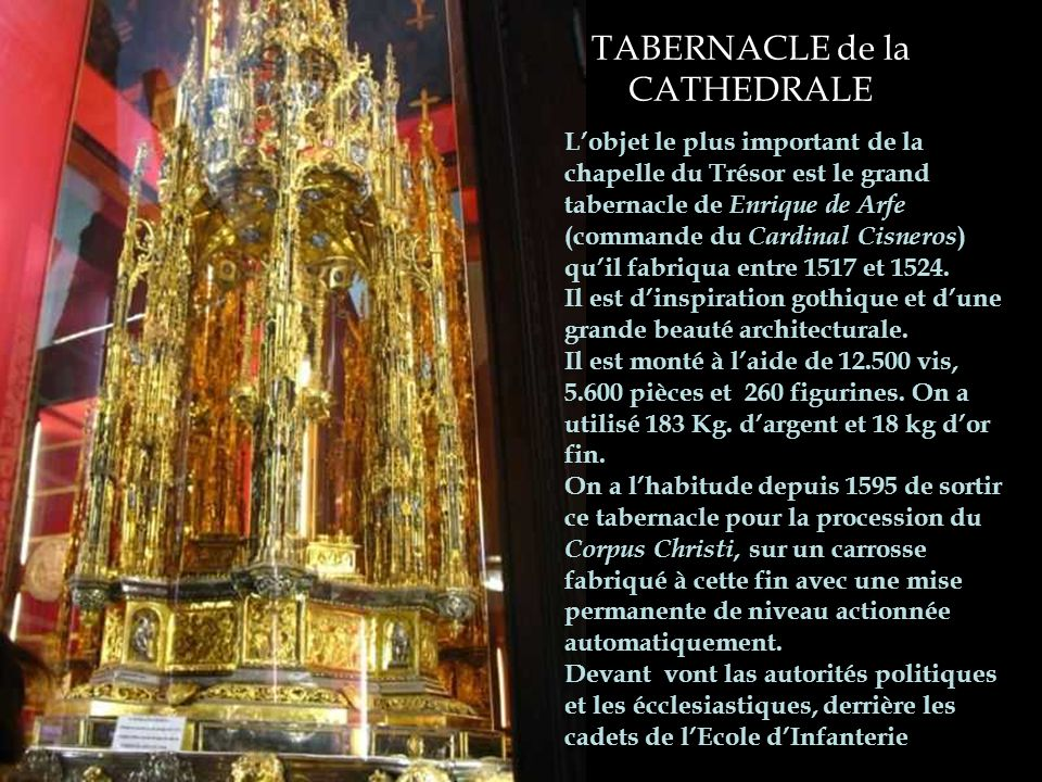 TABERNACLE de la CATHEDRALE