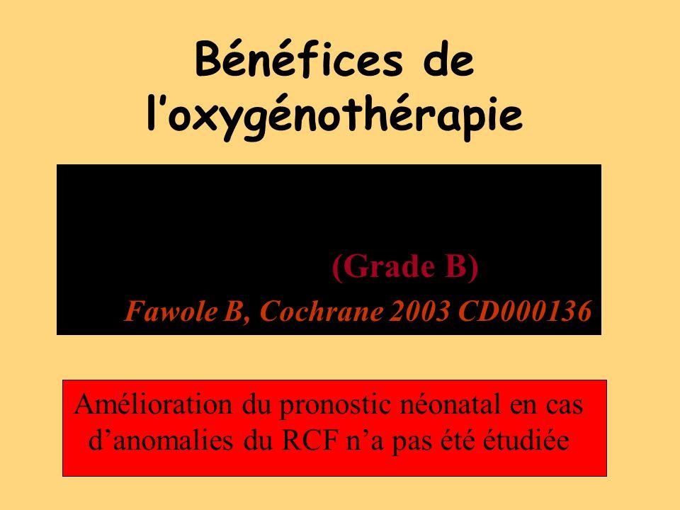 Bénéfices de l'oxygénothérapie