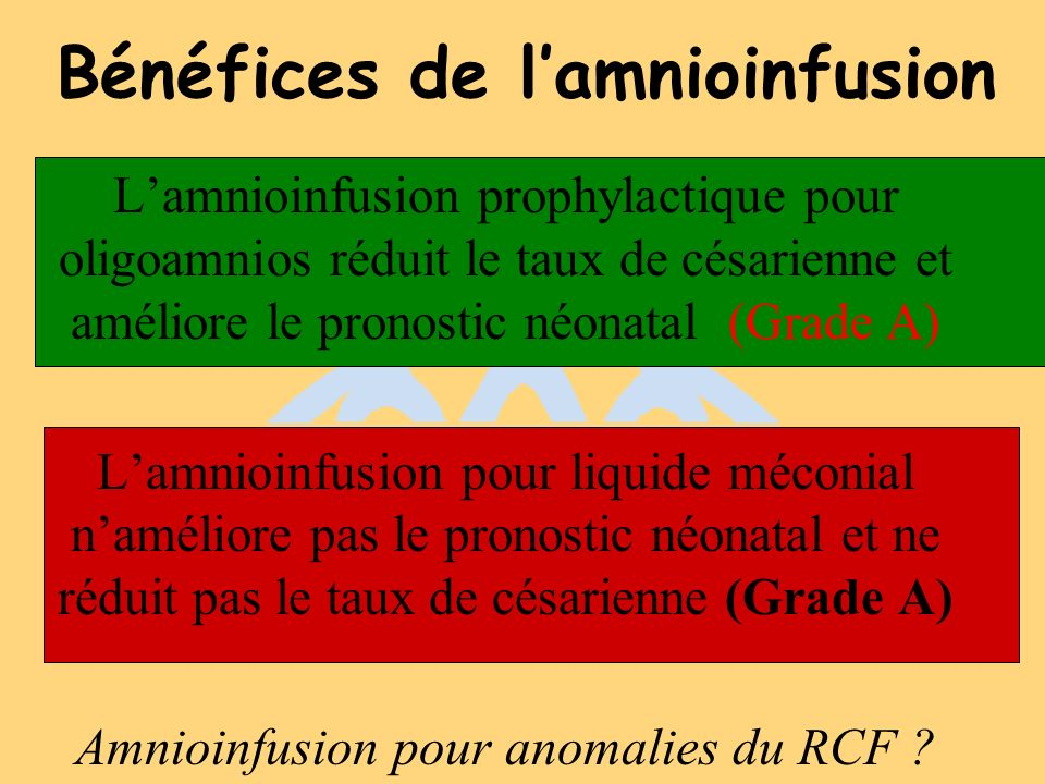 Bénéfices de l'amnioinfusion