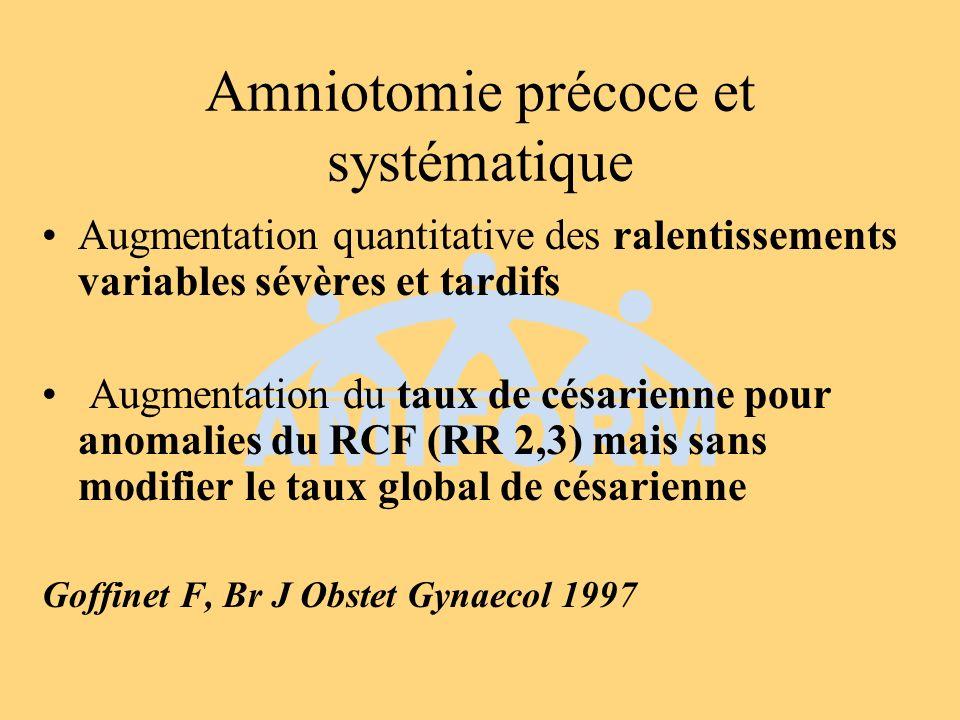 Amniotomie précoce et systématique
