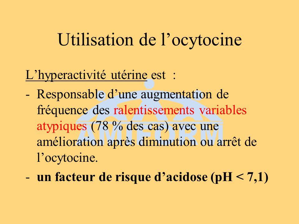 Utilisation de l'ocytocine