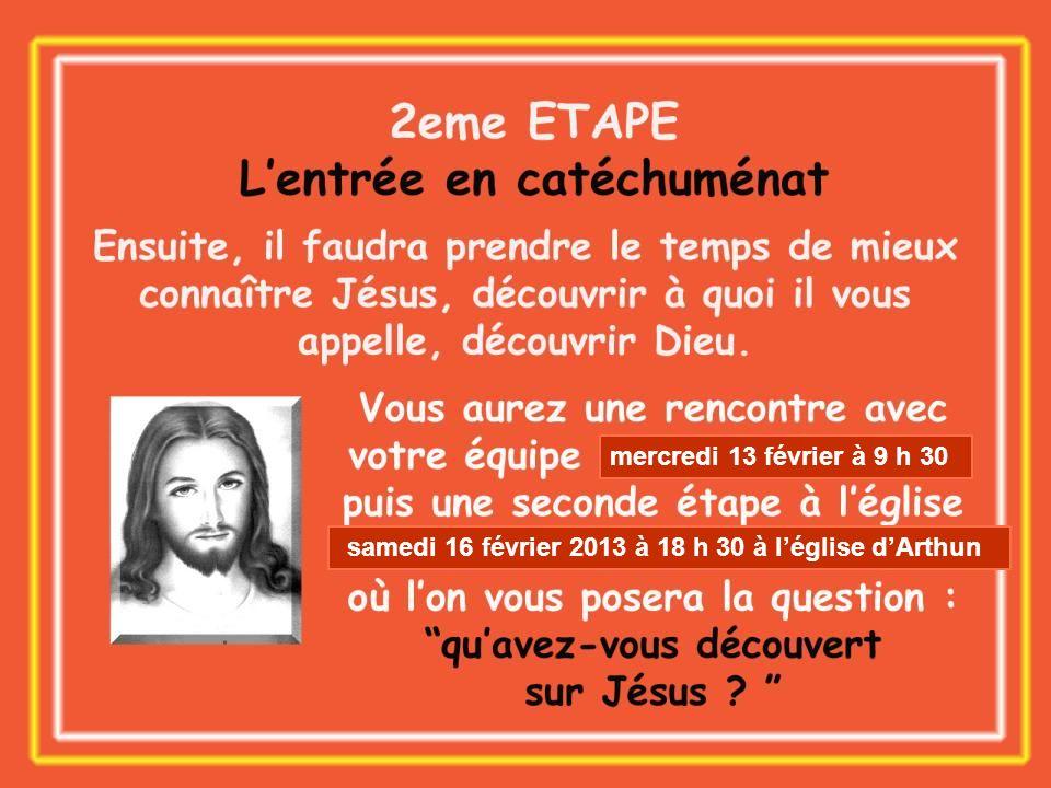 mercredi 13 février à 9 h 30 samedi 16 février 2013 à 18 h 30 à l'église d'Arthun