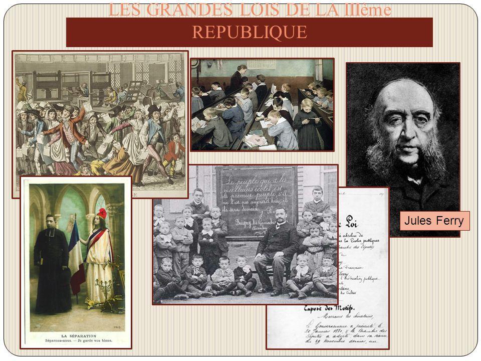 LES GRANDES LOIS DE LA IIIème REPUBLIQUE