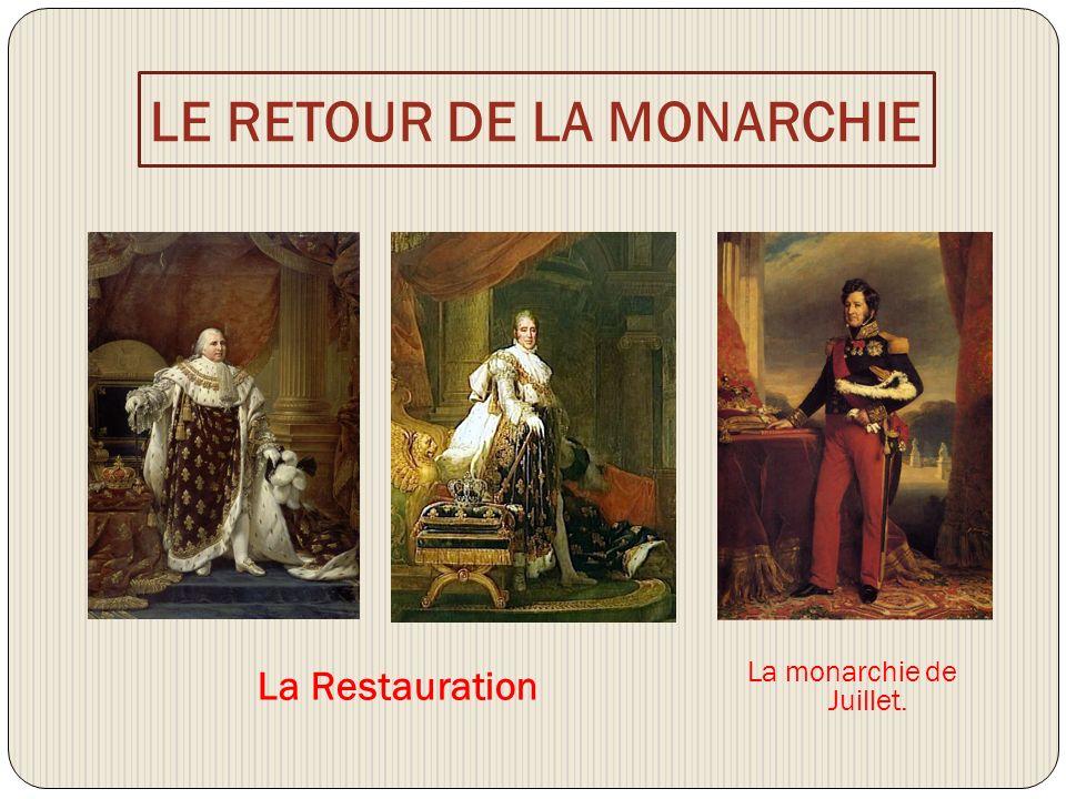 LE RETOUR DE LA MONARCHIE