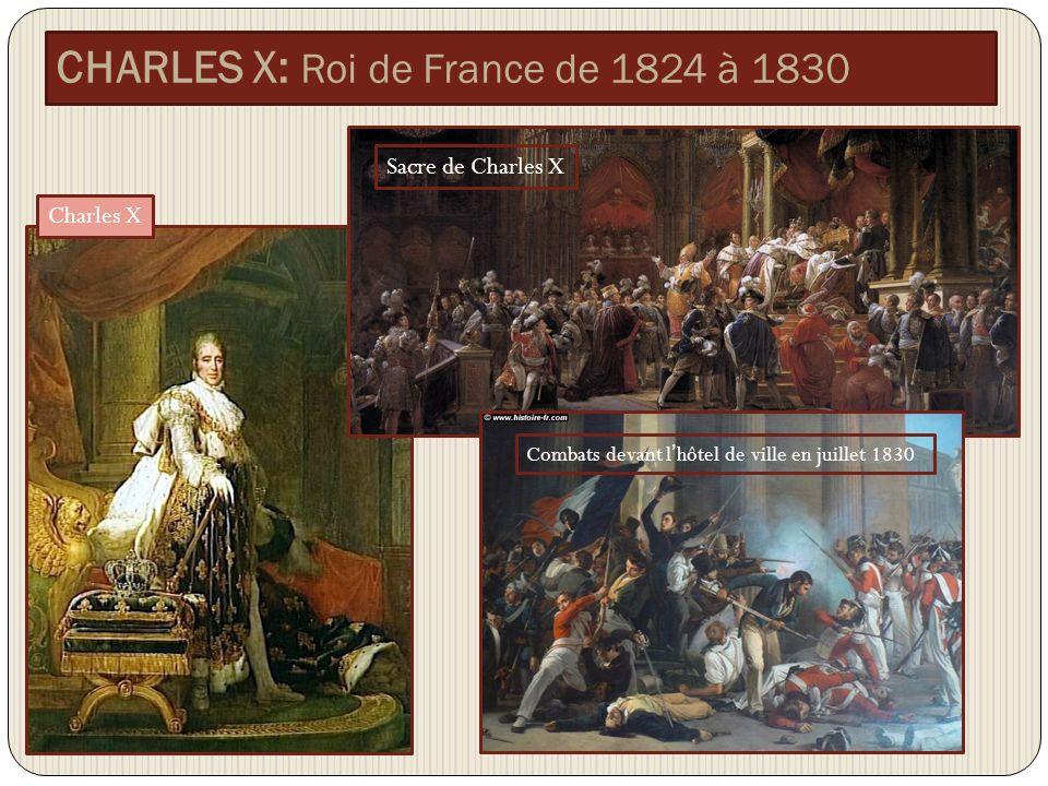 CHARLES X: Roi de France de 1824 à 1830