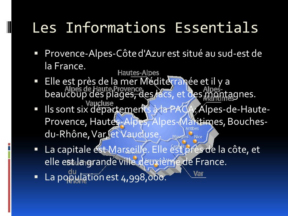 Les Informations Essentials