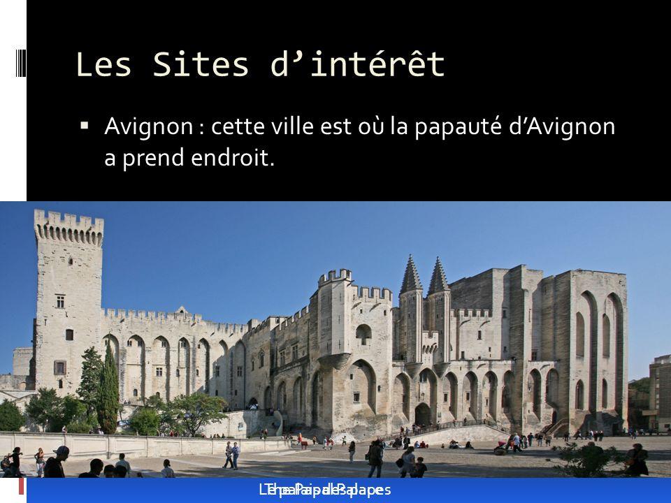 Les Sites d'intérêt Avignon : cette ville est où la papauté d'Avignon a prend endroit. Le palais des papes.