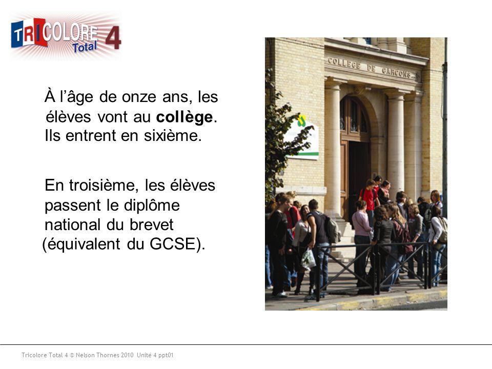 les élèves vont au collège.