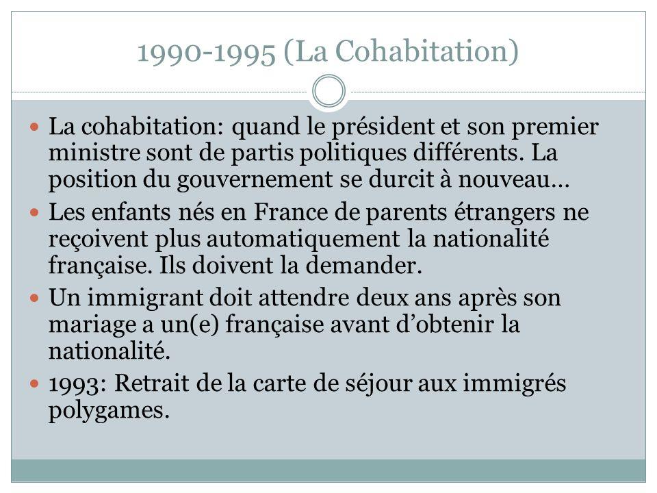 1990-1995 (La Cohabitation)