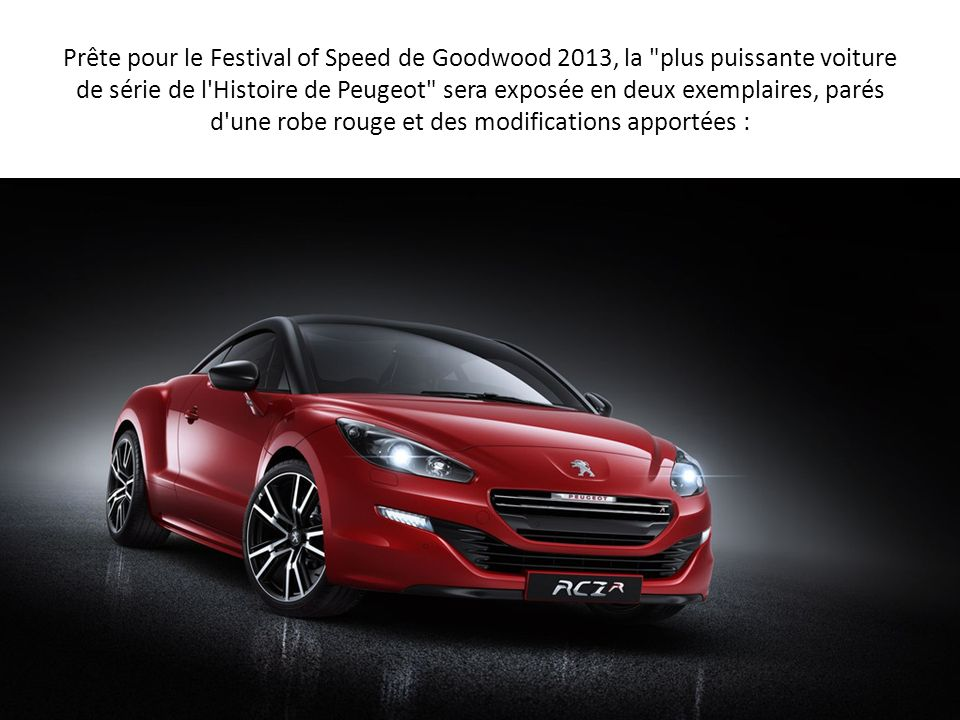 peugeot rcz r ppt video online t l charger. Black Bedroom Furniture Sets. Home Design Ideas