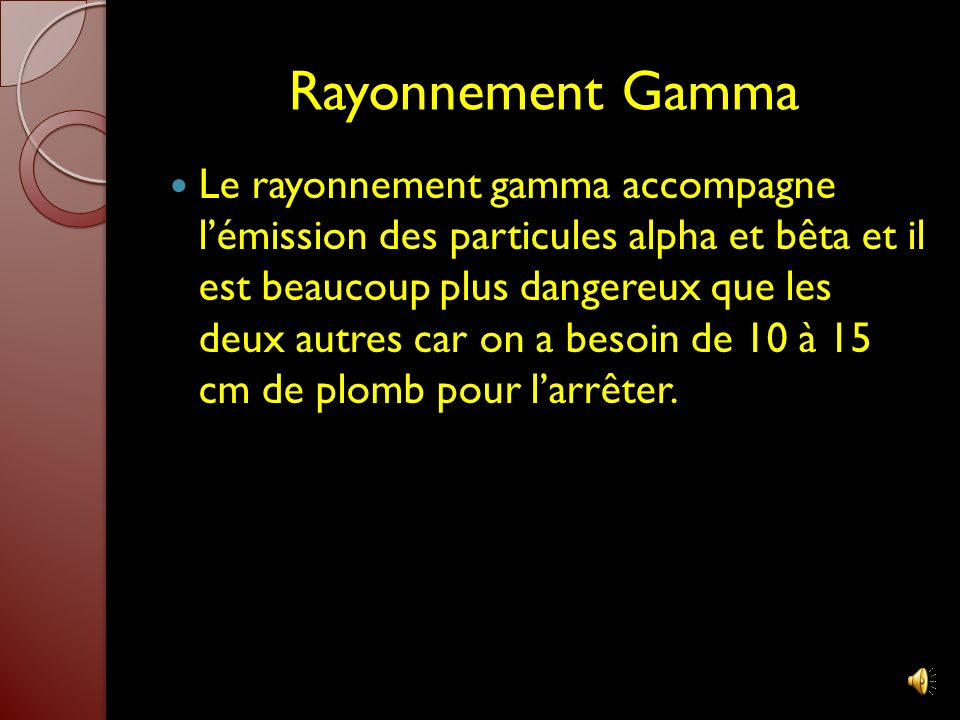 Rayonnement Gamma