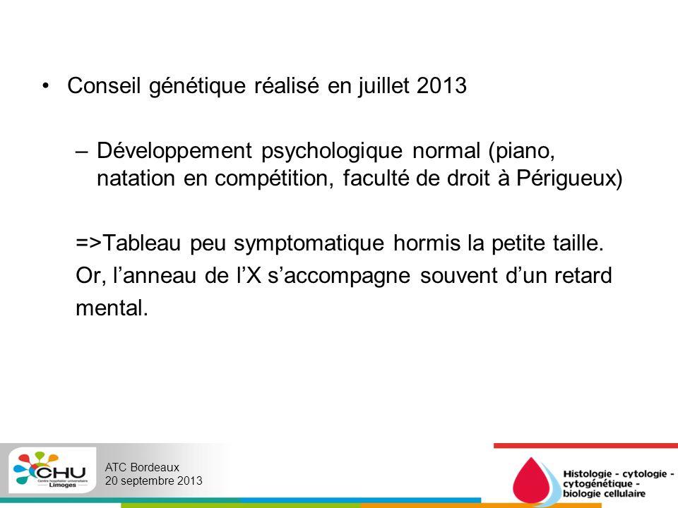 Conseil génétique réalisé en juillet 2013