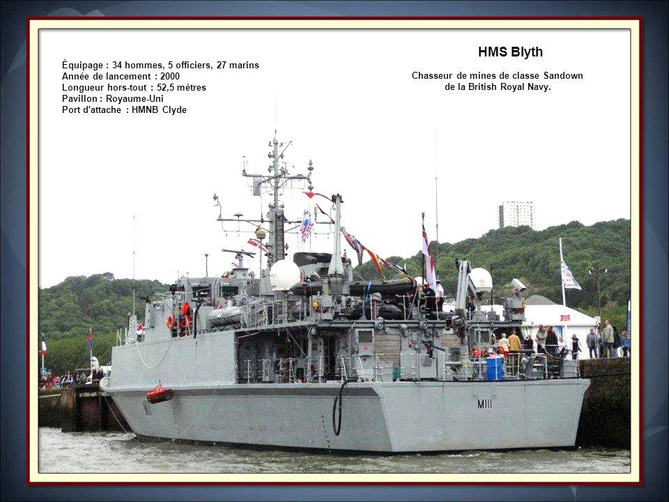 Chasseur de mines de classe Sandown de la British Royal Navy.