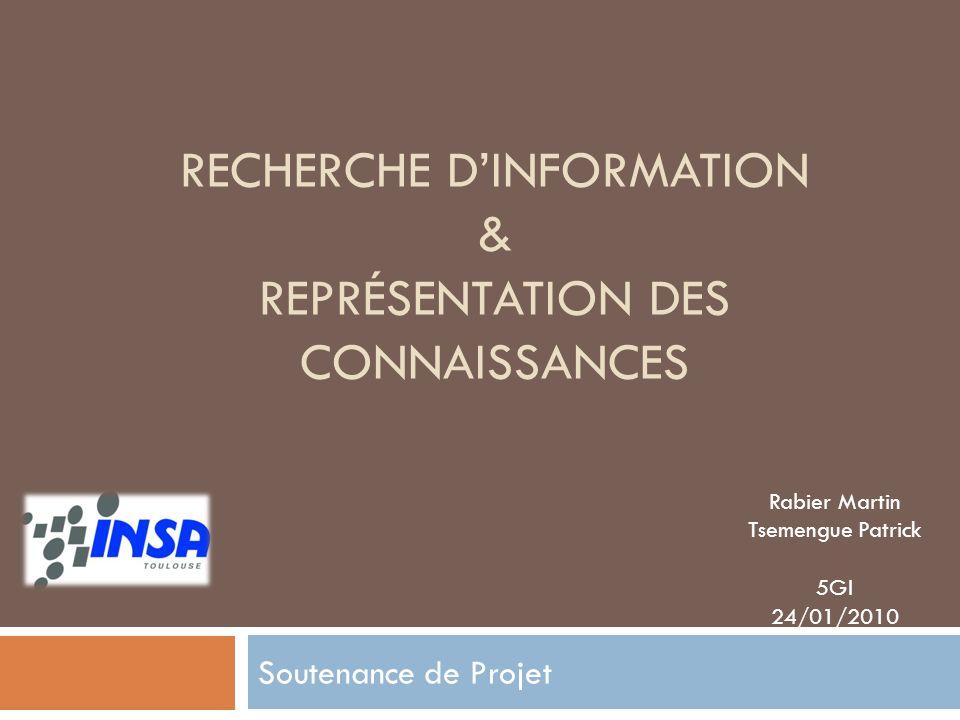 Recherche d'information & Représentation des Connaissances