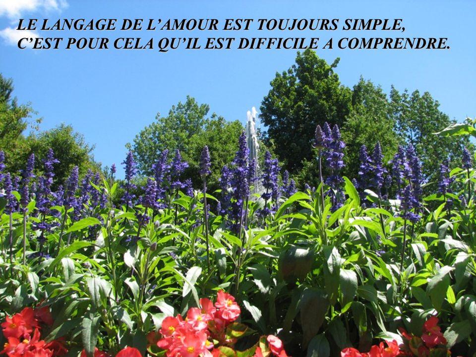 LE LANGAGE DE L'AMOUR EST TOUJOURS SIMPLE,