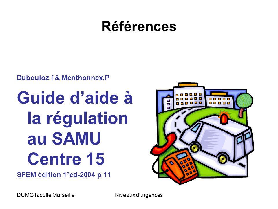 Guide d'aide à la régulation au SAMU Centre 15