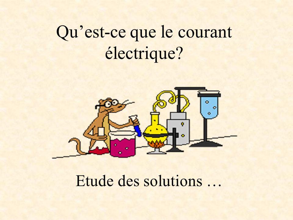 Qu'est-ce que le courant électrique