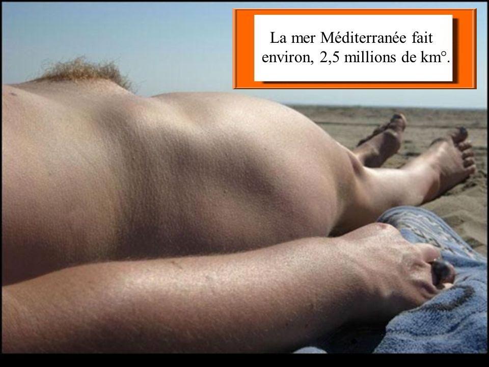 La mer Méditerranée fait environ, 2,5 millions de km°.