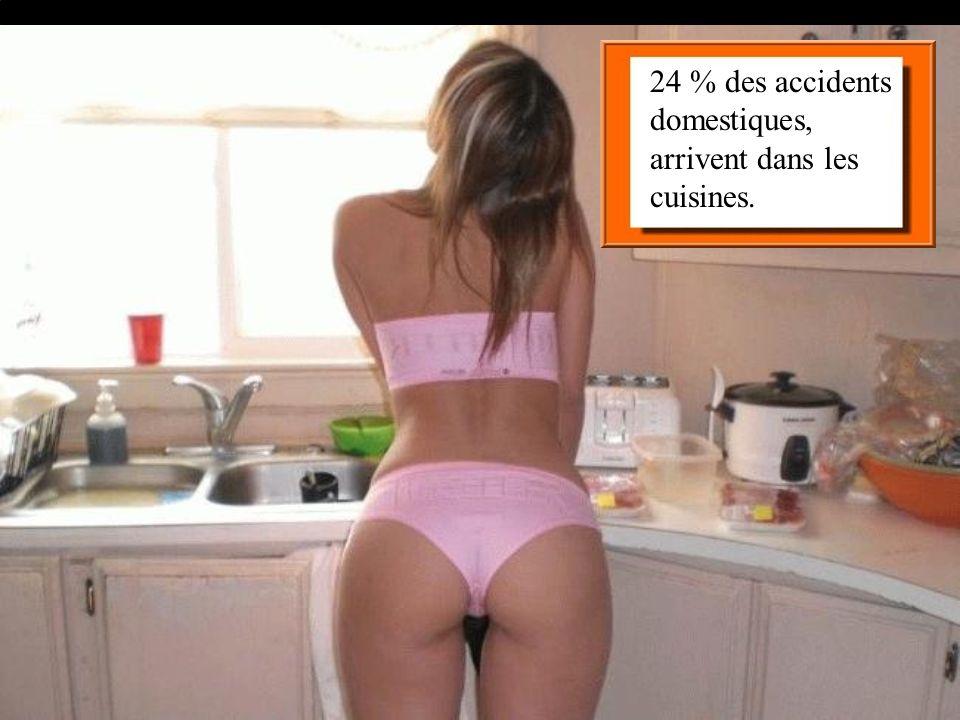 24 % des accidents domestiques, arrivent dans les cuisines.