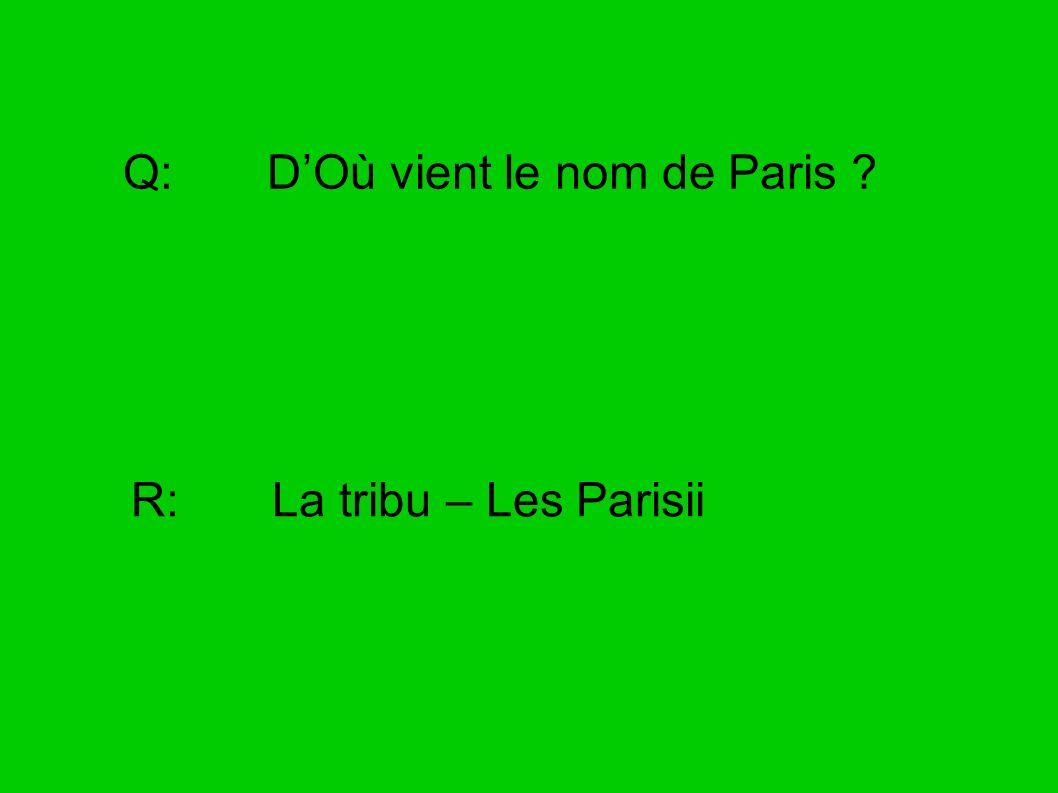 Q: D'Où vient le nom de Paris