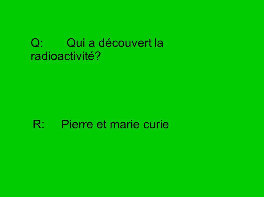 Q: Qui a découvert la radioactivité