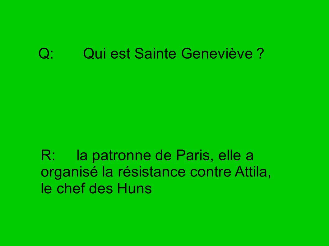 Q: Qui est Sainte Geneviève