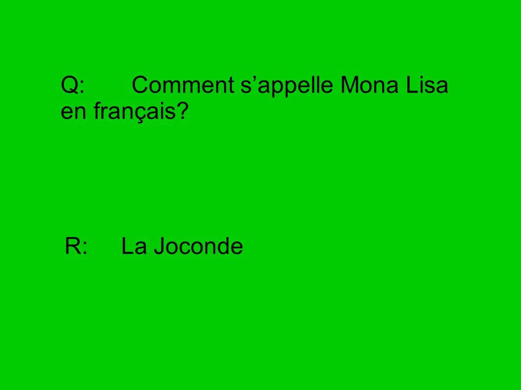 Q: Comment s'appelle Mona Lisa en français