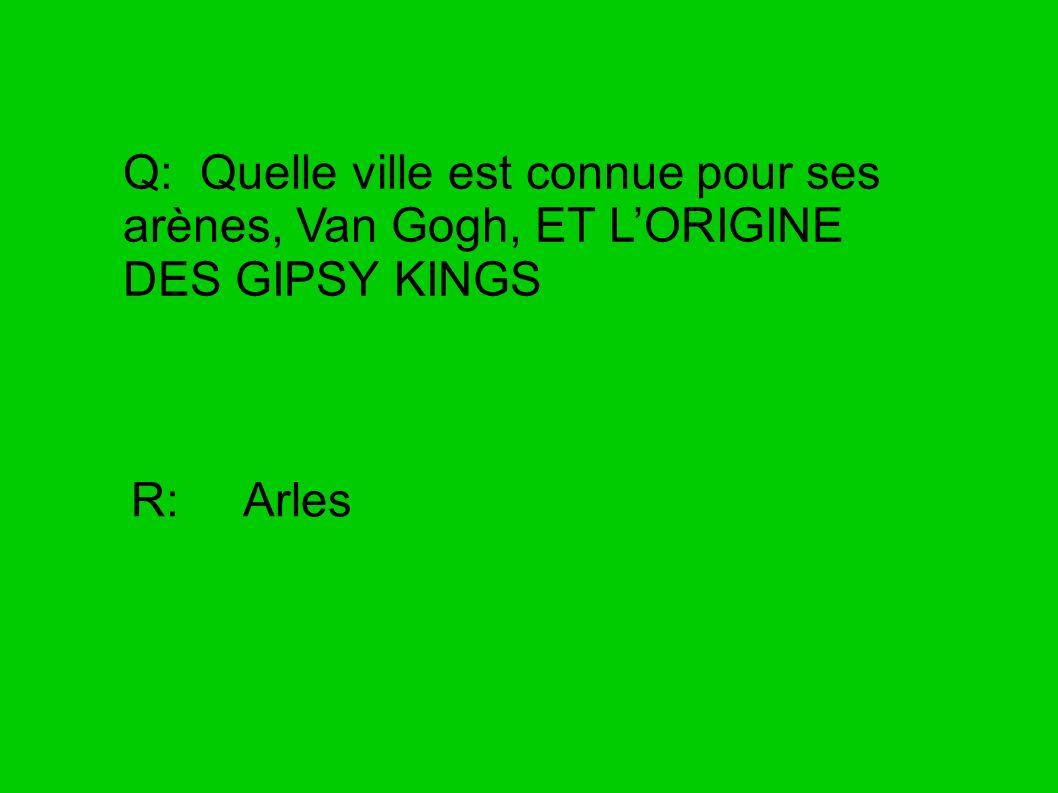 Q: Quelle ville est connue pour ses arènes, Van Gogh, ET L'ORIGINE DES GIPSY KINGS