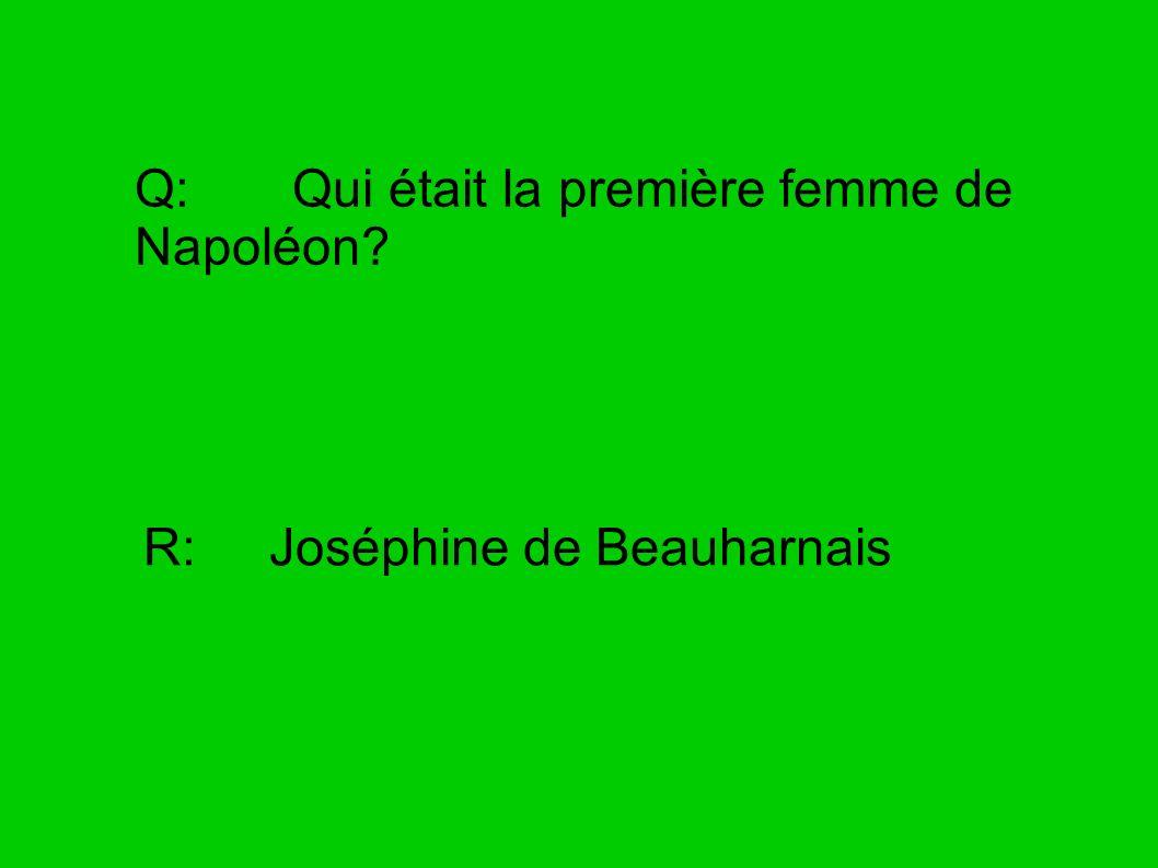 Q: Qui était la première femme de Napoléon