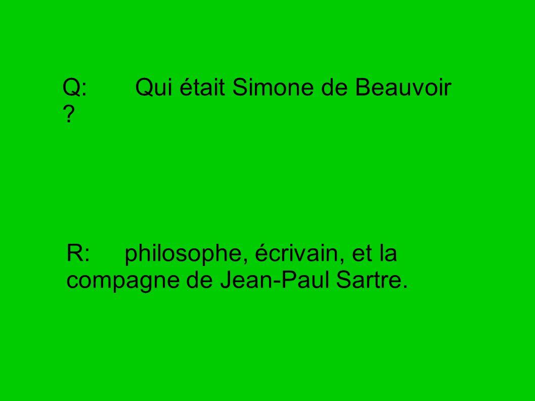 Q: Qui était Simone de Beauvoir