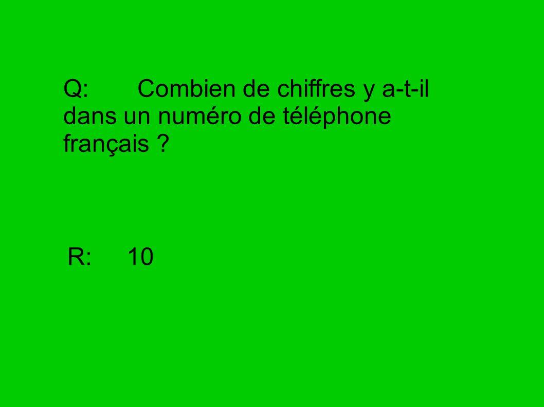 Q: Combien de chiffres y a-t-il dans un numéro de téléphone français