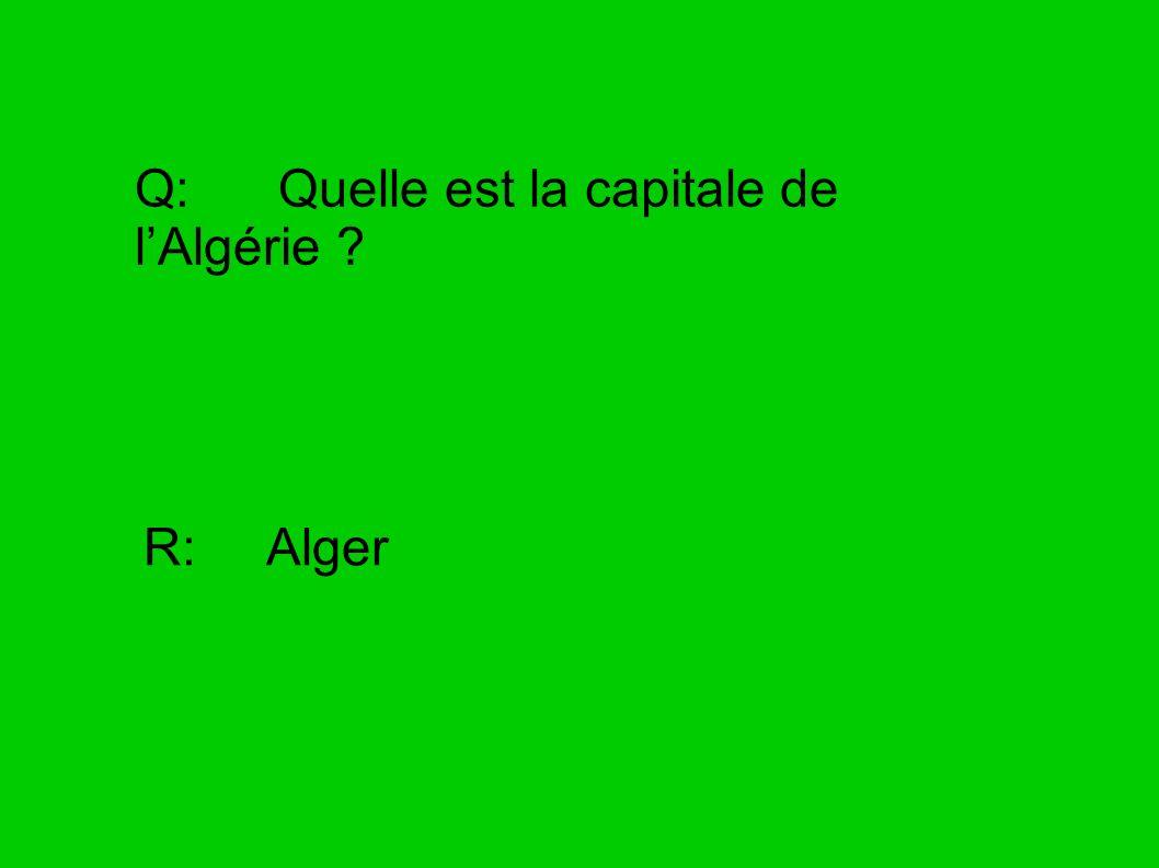 Q: Quelle est la capitale de l'Algérie