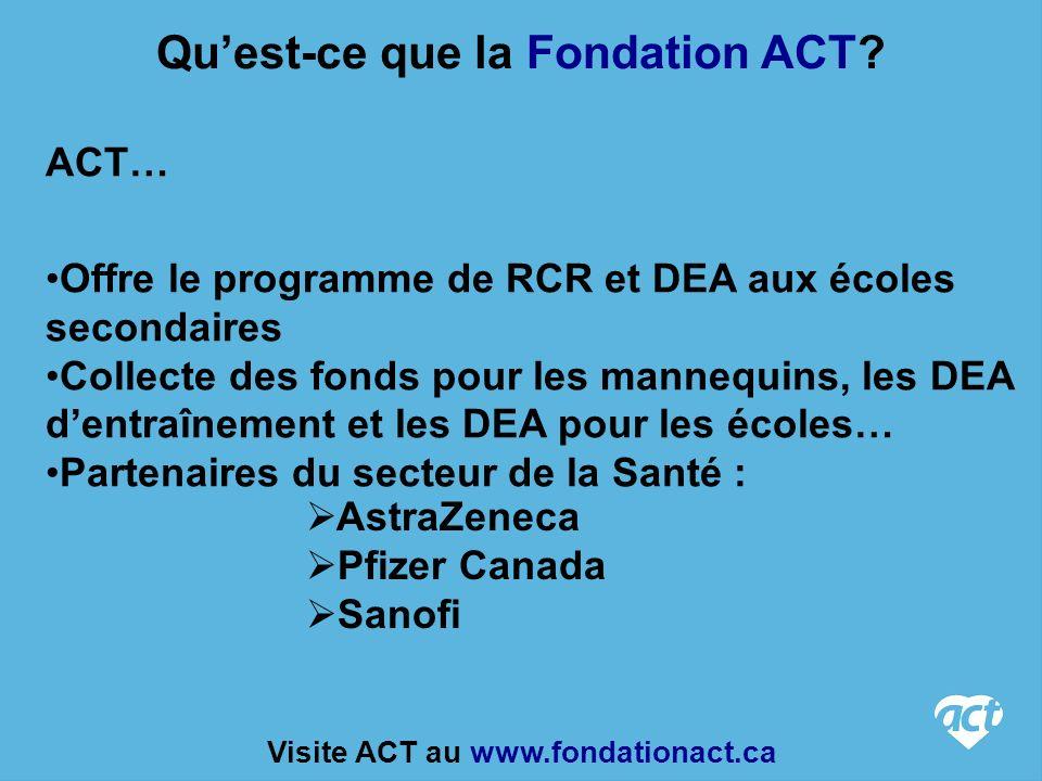 Qu'est-ce que la Fondation ACT Visite ACT au www.fondationact.ca
