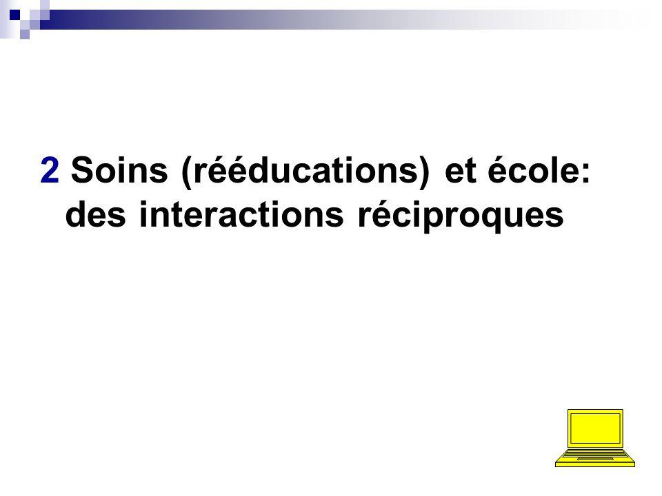 2 Soins (rééducations) et école: des interactions réciproques