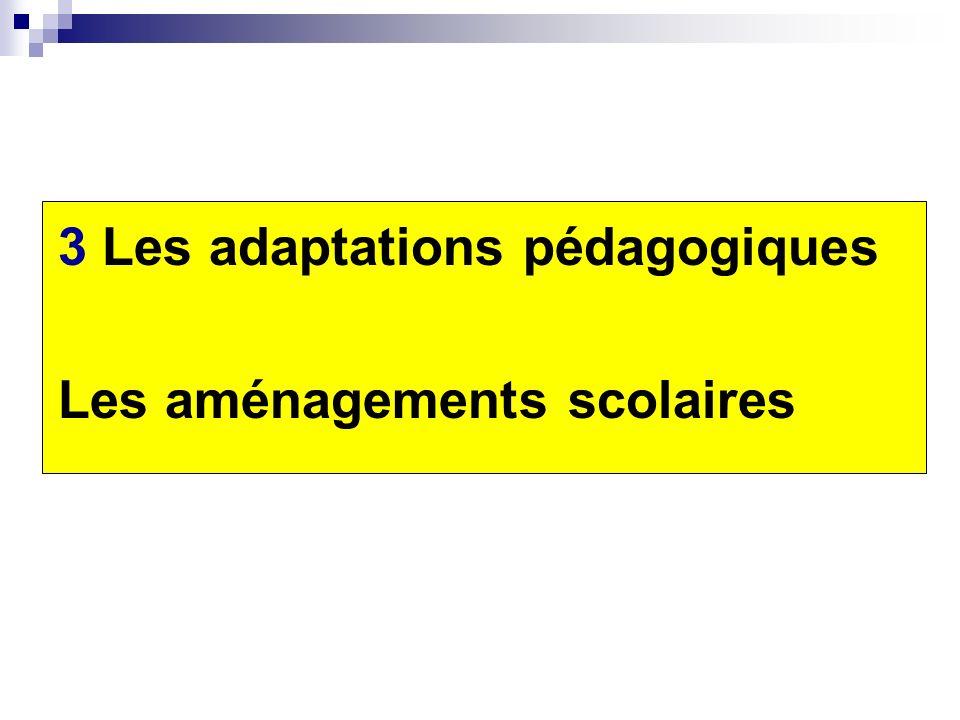 3 Les adaptations pédagogiques
