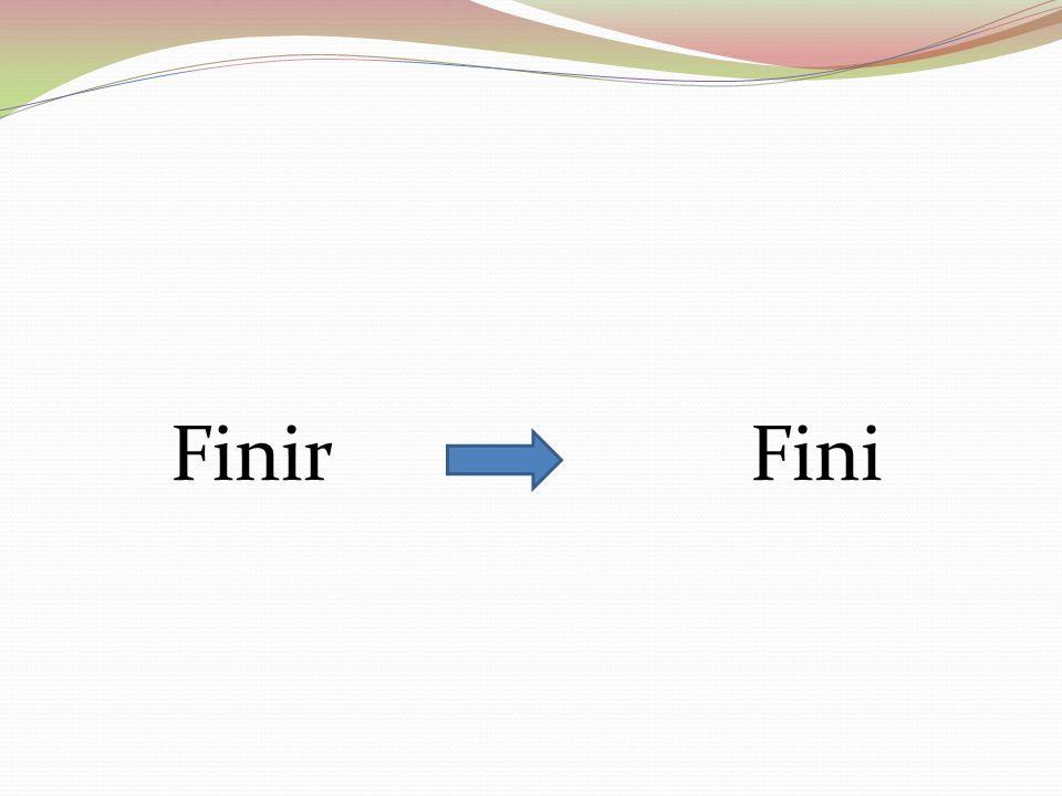 Finir Fini