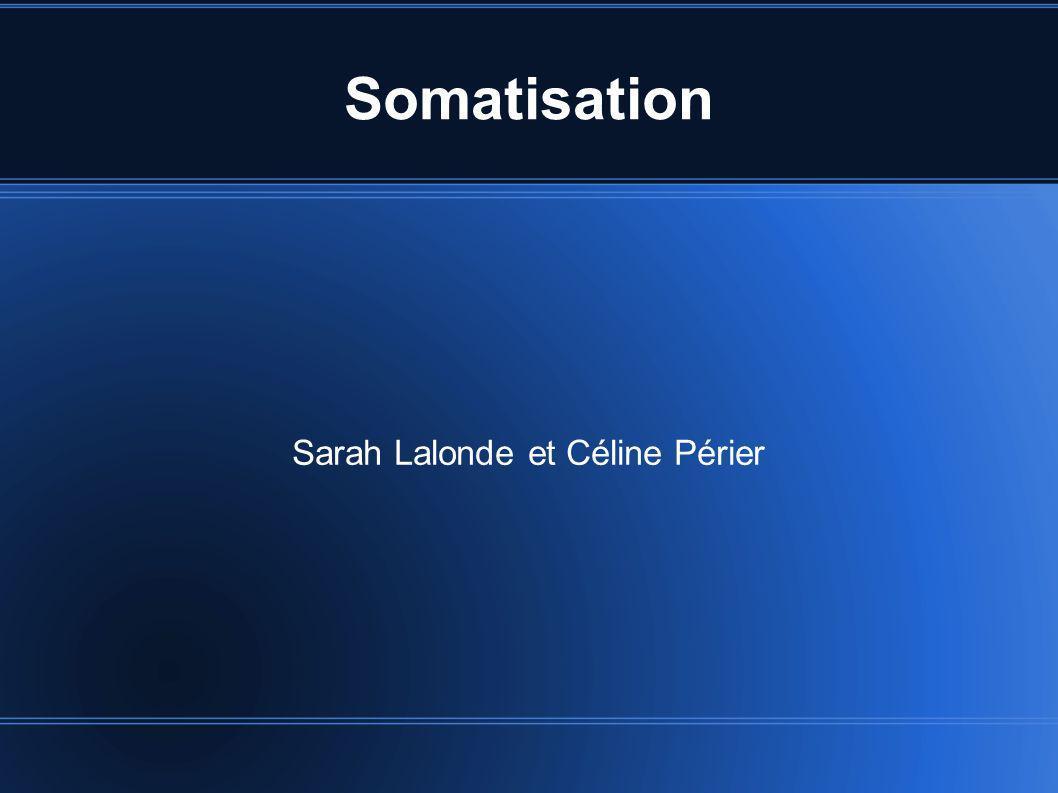 Sarah Lalonde et Céline Périer