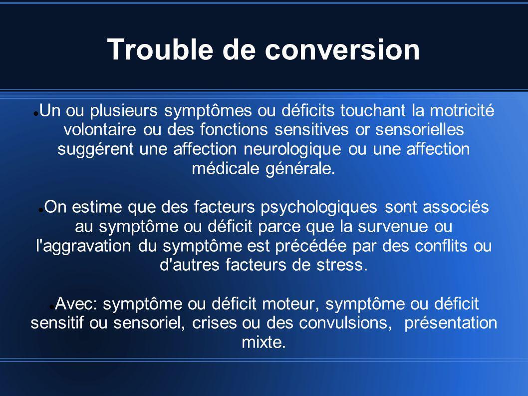 Trouble de conversion