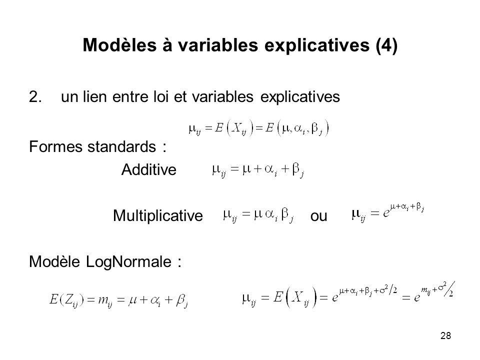 Modèles à variables explicatives (4)