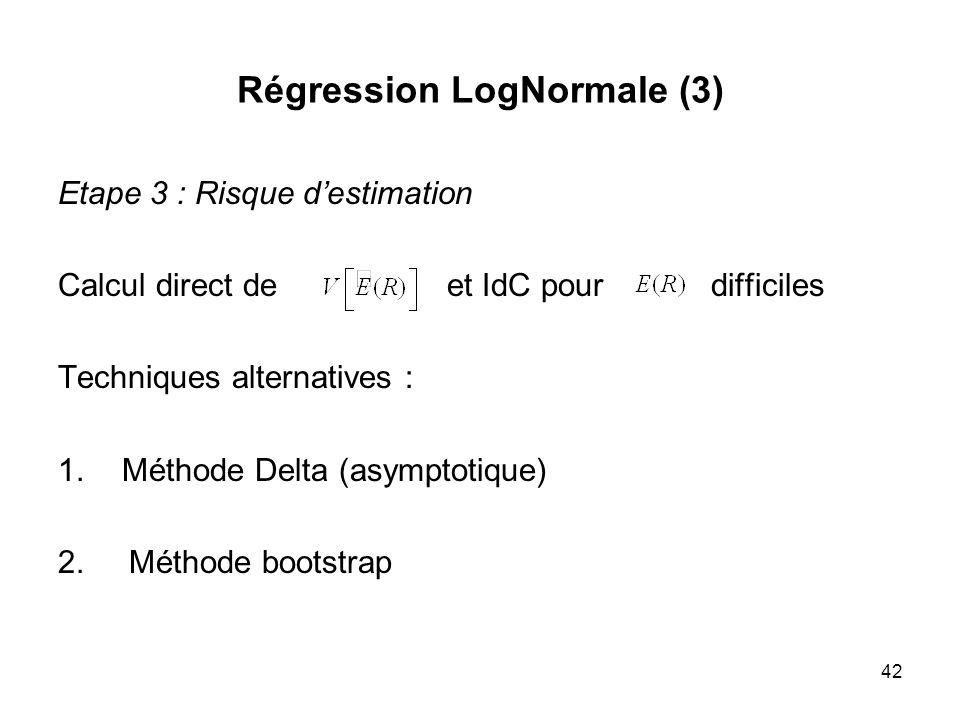 Régression LogNormale (3)