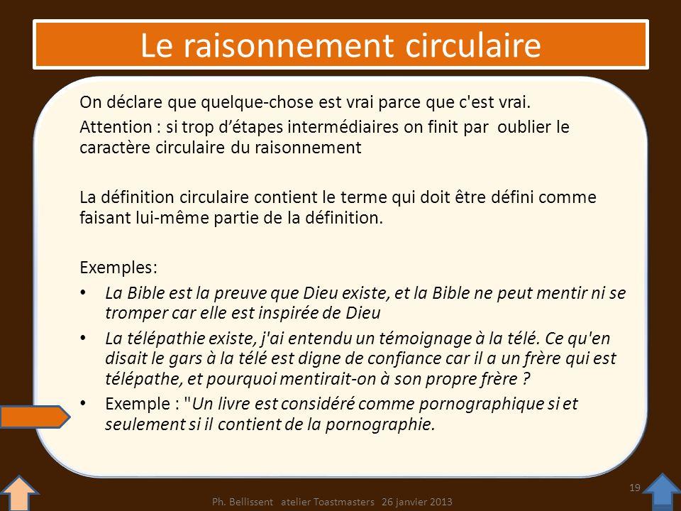 Le raisonnement circulaire