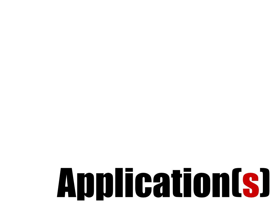 Application(s)